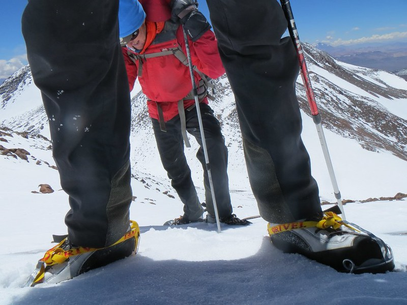 Taking a breather on the climb to the UPAME summit (6800m) of Pissis