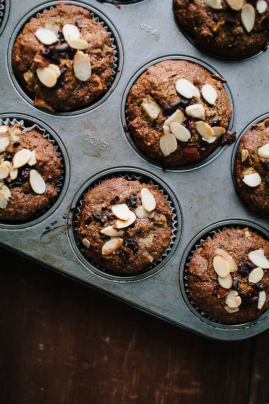 Pear + Cacao Nib Buckwheat Muffins // The Year in Food
