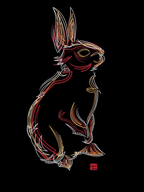 Pinstripe Bunny