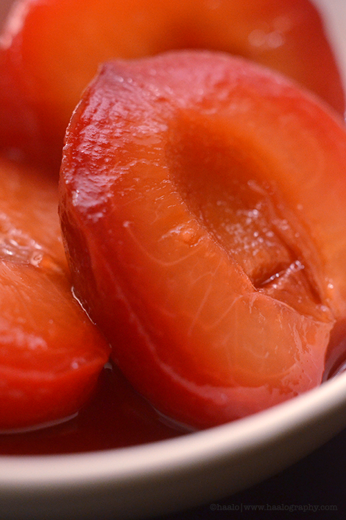 Cinzano Poached Blood Plums© by Haalo