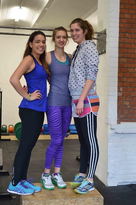 Alina, Aleks y yo en el box para el workout 14.3 del Open de CrossFit