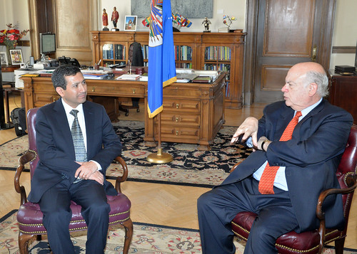 OAS Secretary General met with the Secretary General of the Pan American Institute of Geography and History