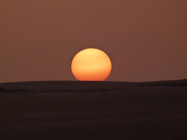 Atardecer en el desierto Líbico (Egipto)