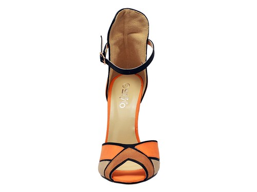 Orange High Formal sandal (2)