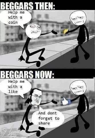 BEGGARS THEN AND NOW. LOLZ