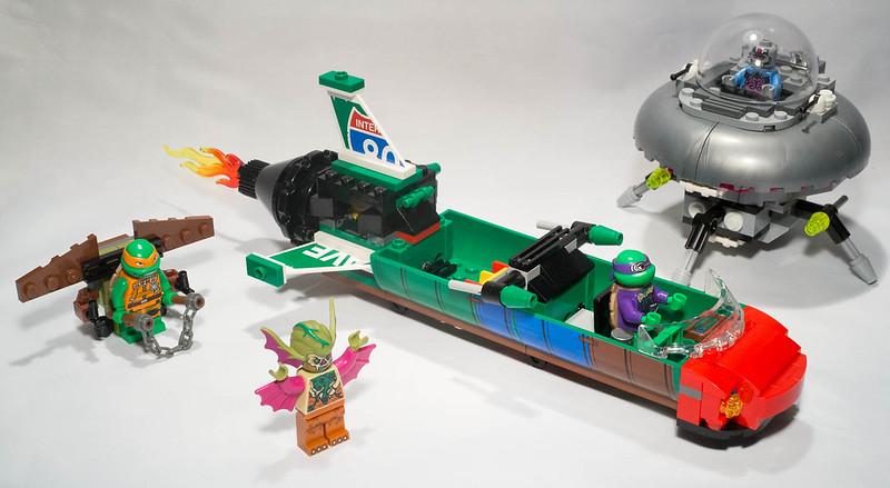 REVIEW LEGO 79120 TMNT - L'attaque aérienne en T-Rawket