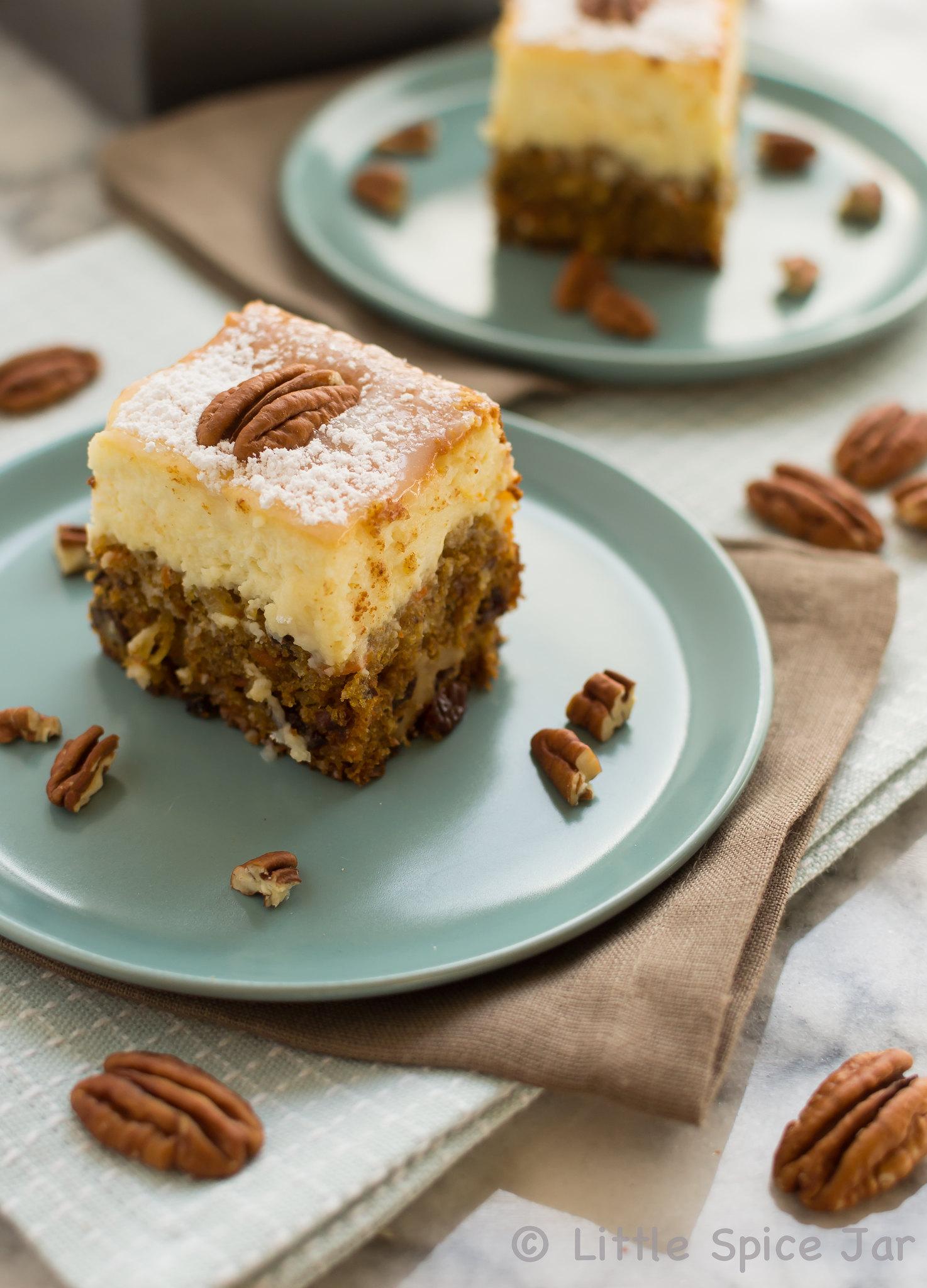 Carrot Cake Cheesecake Bars 3