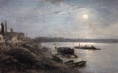 セーヌ川の月明かり