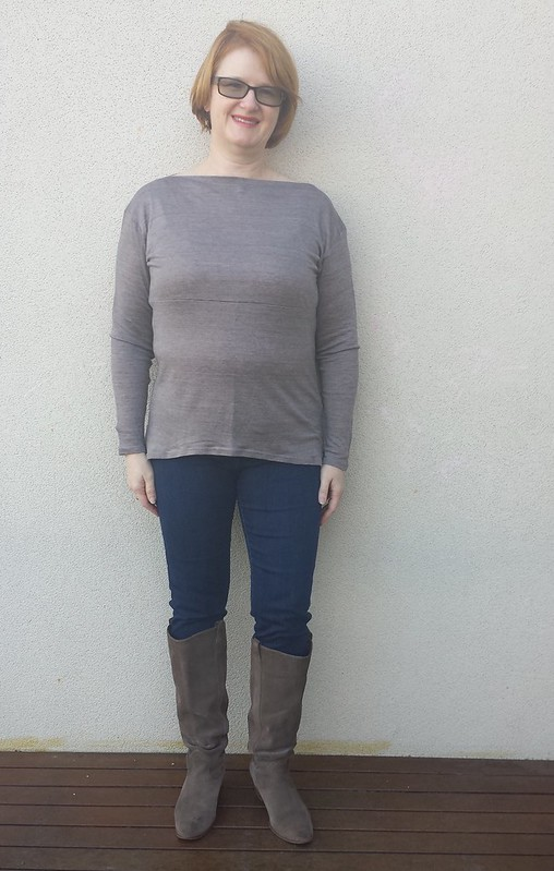 Style Arc Melinda tunic in knit from Darn Cheap Fabrics - not very wearable muslin