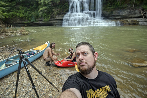 Ben Herrmann, Ryan Gardner, Chuck Sutherland, Mill Creek Falls, Spring Creek, Overton County, Tennessee