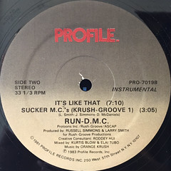 RUN-D.M.C.:IT'S LIKE THAT(LABEL SIDE-B)
