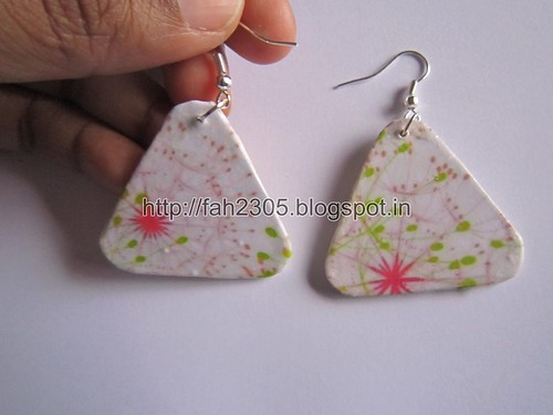 Handmade Jewelry - Card Paper Earrings  (Album 3) (26) by fah2305