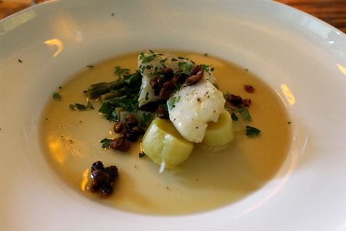 Olive-Oil Poached Halibut