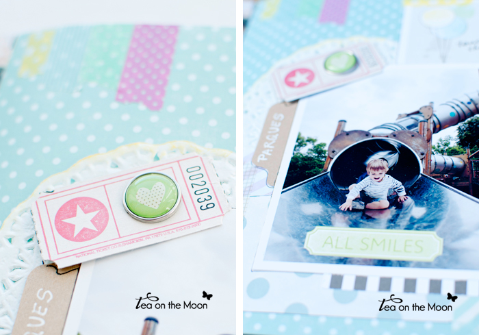 mini album scrapbook Paris 4 detalles