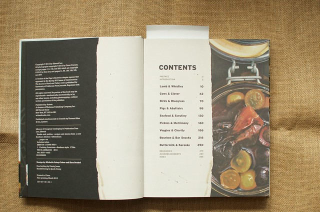 Smoke & Pickles table of contents