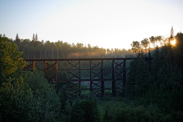 Sunrise and the Train Trestle