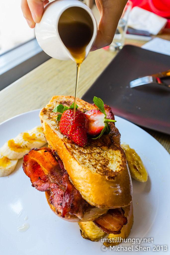 Chalkboard cafe brioche french toast