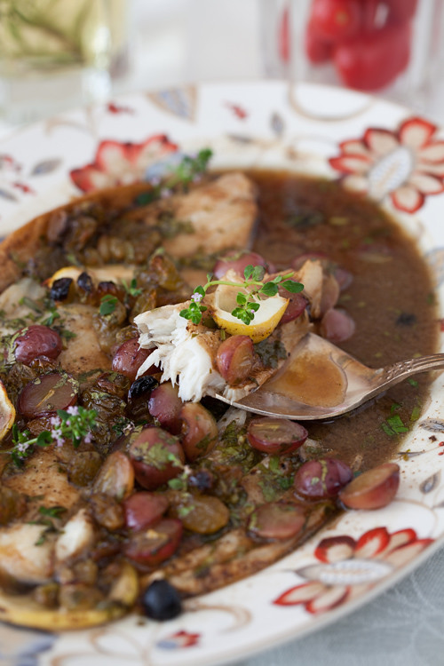 Flounder with Grapes 3