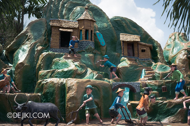 Haw Par Villa - exiting the courts