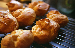 baking, popover, baked goods, profiterole, food, dish, cuisine, snack food, danish pastry,