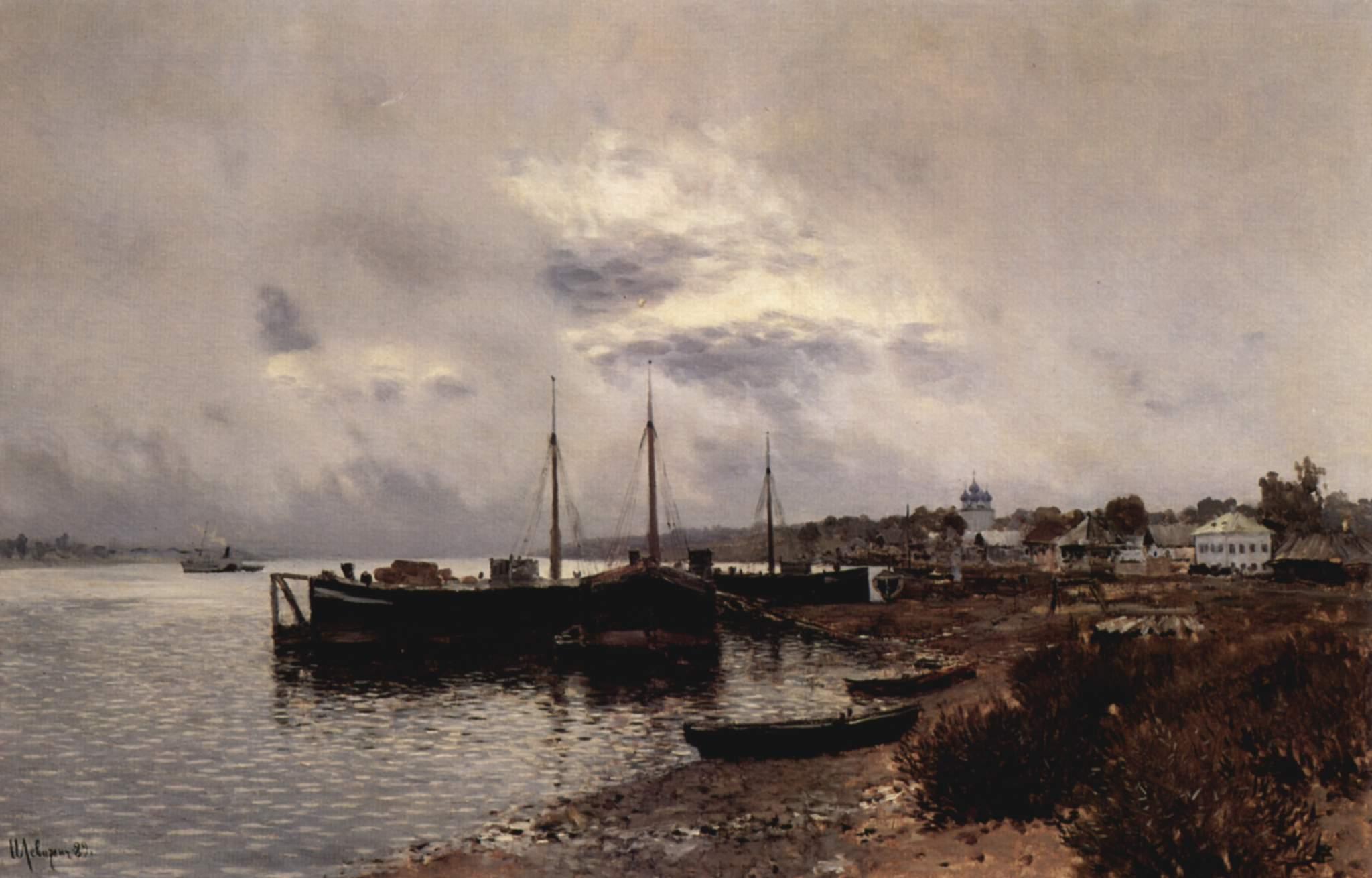 Después de la lluvia en Plyos, la Perla del Volga. Isaac Levitan. 1889
