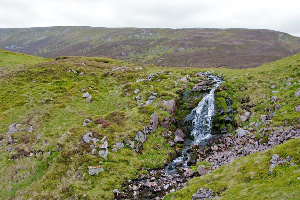 Falls below Loch nan Eun