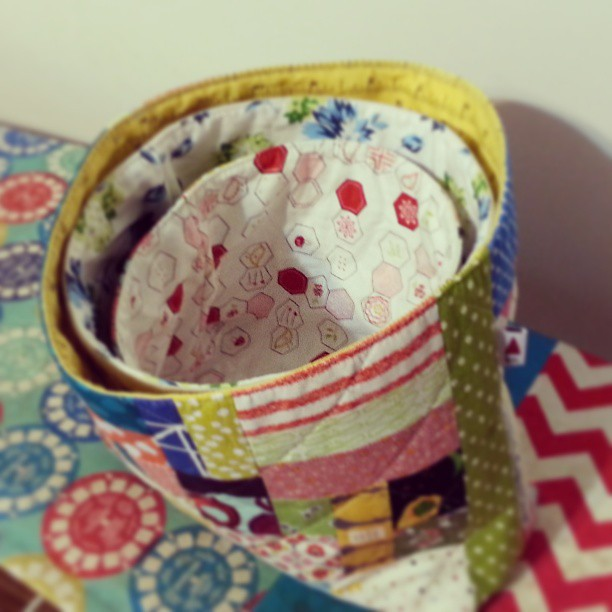 #sewingroomswap nested fabric bowls