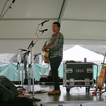 Colin Meloy performs solo tunes and then invites Decemberists on stage, Saturday afternoon. Photo by Laura Fedele