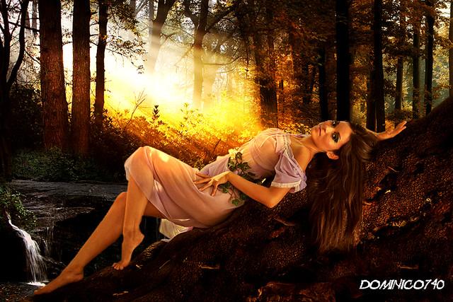 Créer un Portrait manipulation de photo romantique et chaleureux