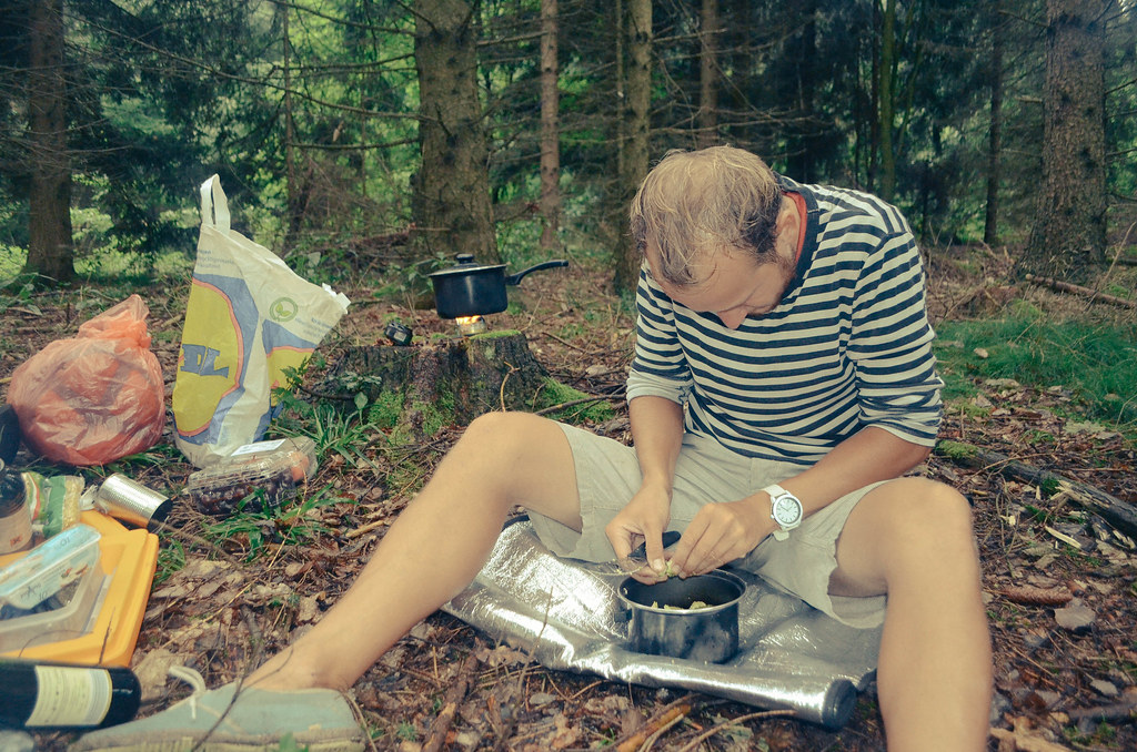 18 preparing food in a forest