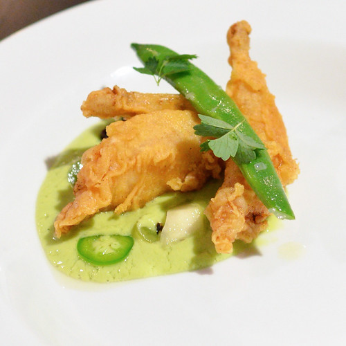 quail, green gazpacho, muscat, romano beans, almond, cherry, mint, grilled cucumber
