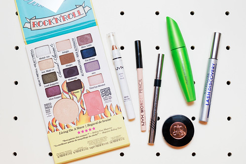 Get the Look tutorial with theBalm's BalmJovi Rockstar Palette - products used