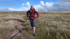 DSC07979 10Peaks Brecon Event 2013 - 14:54 Stephanie Clifford? descends from Fan Brychieniog