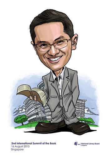 NLB digital caricature - Paul Tan