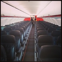 Our private jet! The third day of the #jetstar Lombok > Perth route and only 11 passengers on board. Where should we sleep?