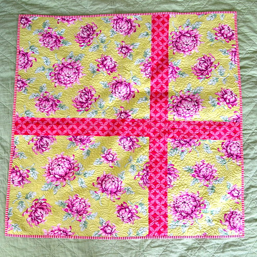 Blackberry Winter Blossom Quilt - back