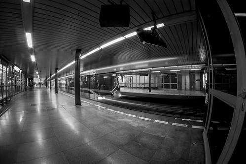 Abfahrt, U-Bahn Prag Vysehrad by Zdenek Papes
