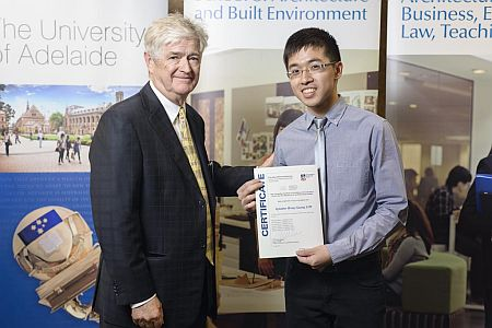 2012 Winner: Ignatius Lim Presented by Steve Grieve (State Chapter President-AIA)