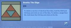 Bowtie Tile Edge