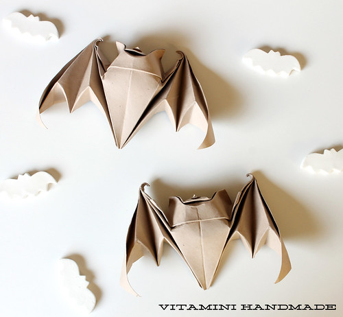 Origami bats for Halloween!