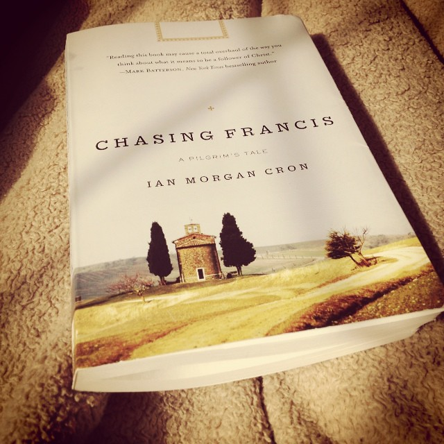"I am loving this book... ""The object of all great art is beauty, and it makes us nostalgic for God...art arouses in us a universal desire for redemption."" #chasingfrancis, #goodword"