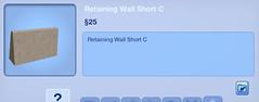 Retaining Wall Short C