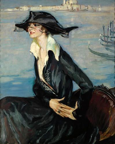 008-La mujer de negro en Venecia-1919-Jean Gabriel Domergue