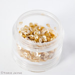 Edible gold sequins
