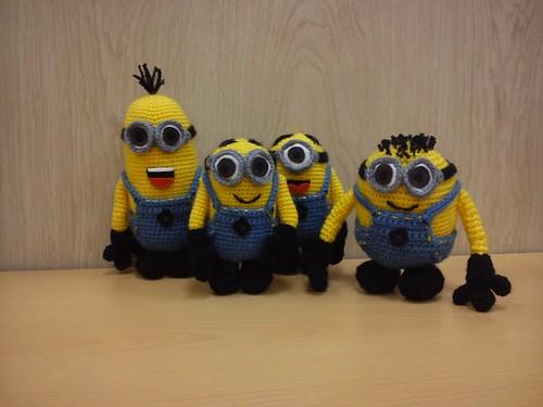 Minion Dave Amigurumi : Minions, minions, minions .... Stuart, Phil, Dave, Mark ...