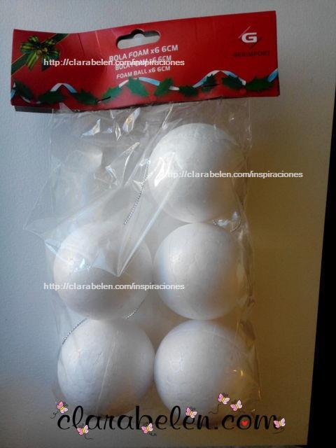Bolas de Navidad con globos y bolas de poliespán en un minuto