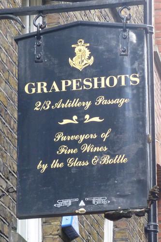 Grapeshots, London E1.