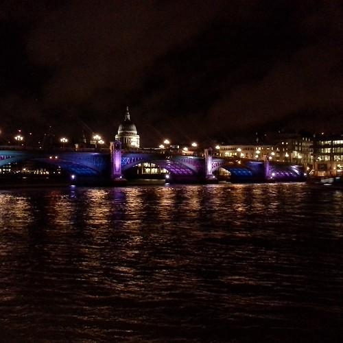 lo skyline serale di Londra