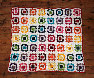 Rainbow Crochet Blanket Tutorial