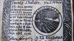 20 dollar colonial note